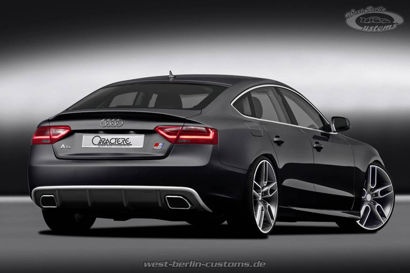 neues bodykit f r den audi a5 sportback 2012 facelift mit t v west berlin customs optisches. Black Bedroom Furniture Sets. Home Design Ideas