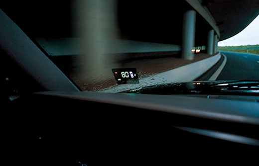 in.pro. MACS-Display – multifunktionales Head-up-Display