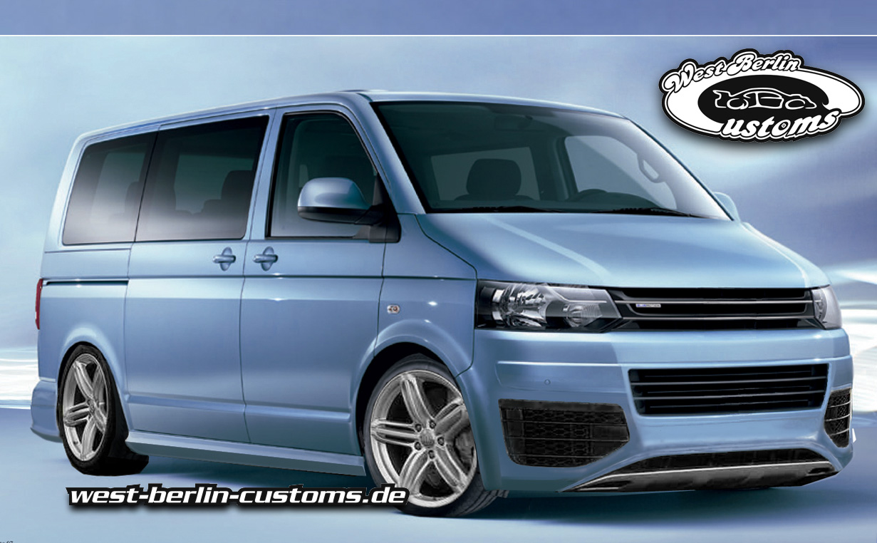 vw t5 facelift bodykit front west berlin customs. Black Bedroom Furniture Sets. Home Design Ideas