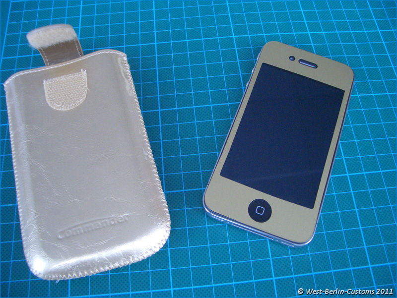 iPhone in Wagenfarbe – Gold-Metallic