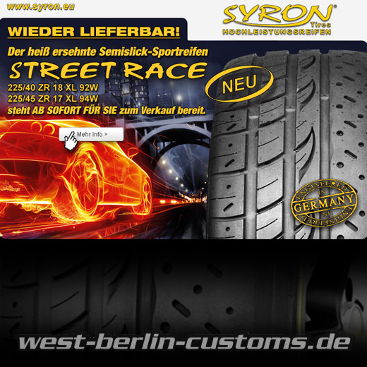 syron tires semi slick street race ist in 17zoll und. Black Bedroom Furniture Sets. Home Design Ideas