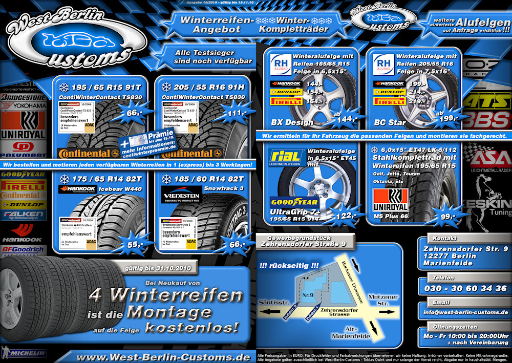 Winterreifen-Flyer 2010 von West-Berlin-Customs