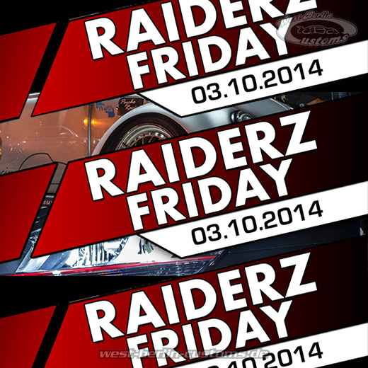 Riderz Friday - Downtownriderz Berlin - Oktober 2014 - West-Berlin-Customs