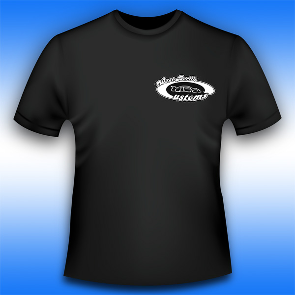 Schwarzes T-Shirt mit West-Berlin-Customs - Logo