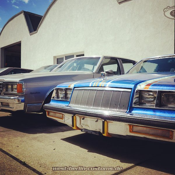 Today the summer came back to Berlin and brought a lot of sunshine. I can't wait to bring my two 80ies classic GM cars back to the streets! RH is a 1985 Buick Regal Lowrider on the LH is a 1983 Chevrolet Caprice (AirRide Project - at work). I love to cruise superslow in this cars. They bring a lot of smiling faces and thumbs up here in Germany. Sometimes it's hard to wait for parts, but both cars are still in progress and on a long way till done #1983