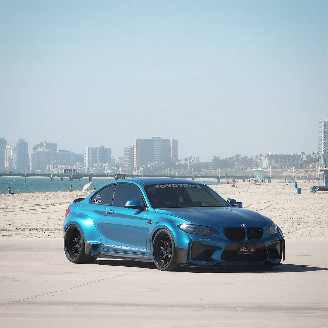 Just a 2nd Pic showing more widebody details. This BMW M2 is a beauty. The massive amount of work is worth it for sure. Big props out to @psm_dynamic ! ??