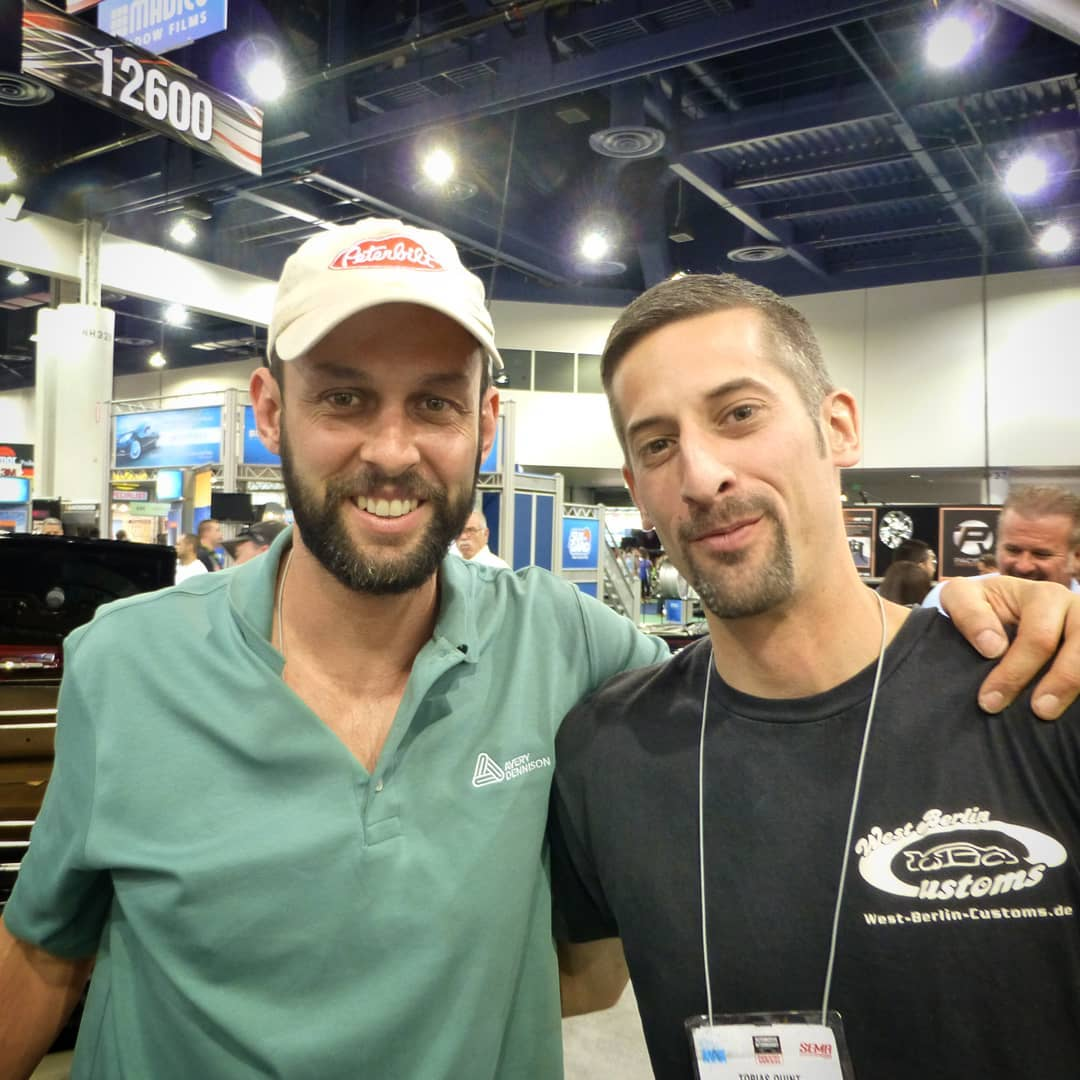 Here is another pic for, taken at SEMA in Las Vegas in 2014 or 2015, I guess. Justin Pate runs. He is a long time car wrapper from the Netherlands, innvovator and well known in the industry. It's always nice to meet this guy and check out his work. ??