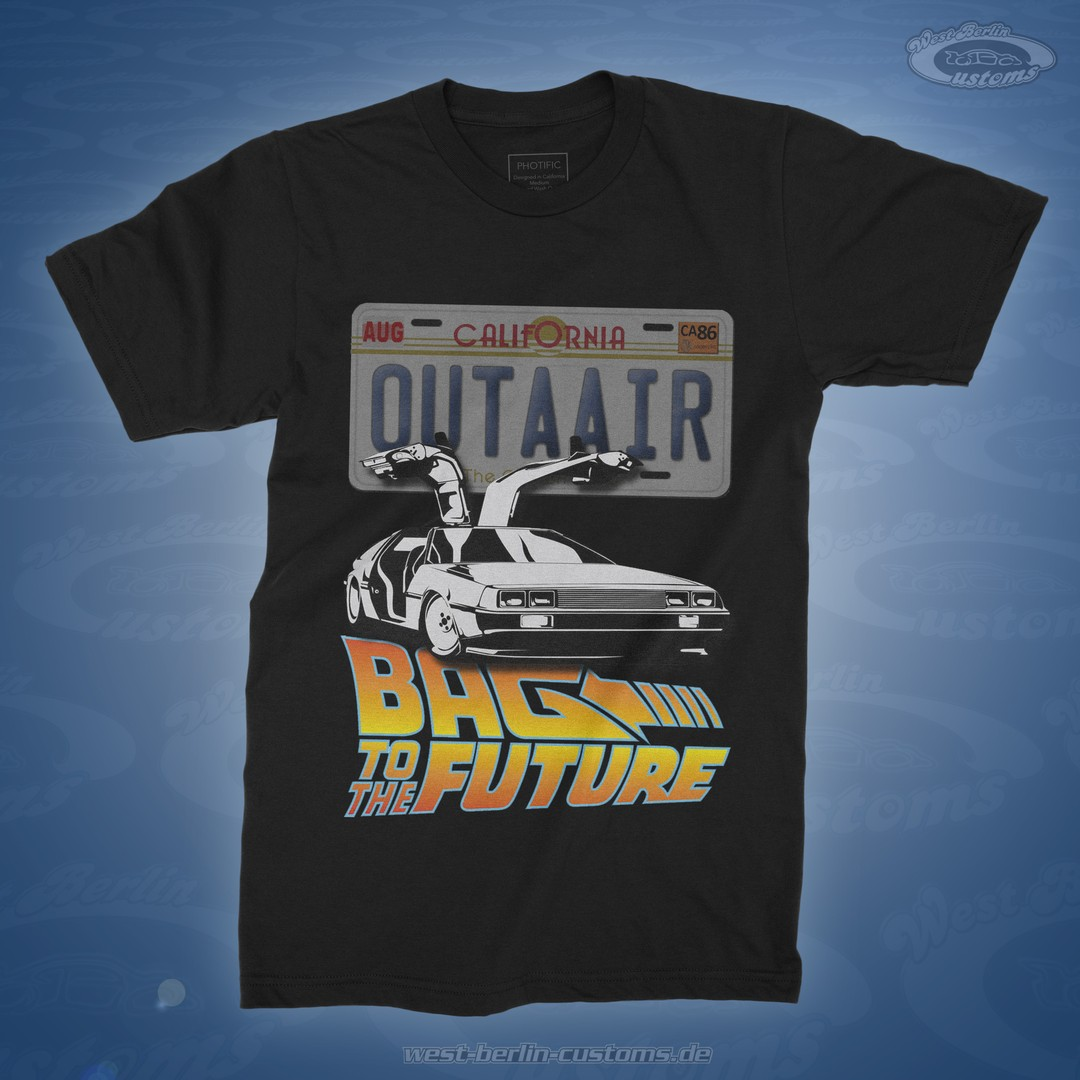 "BAG to the FUTURE // DeLorean ""OUTAAIR"" T-Shirt"